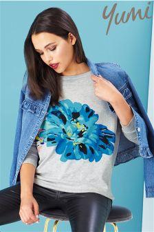 Yumi Flower Print Jumper