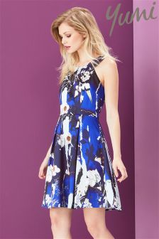 Yumi Botanical Stardust Satin Dress
