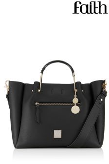 Faith Winged Slouch Tote Bag