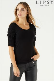Lipsy Ruched Sleeve Top