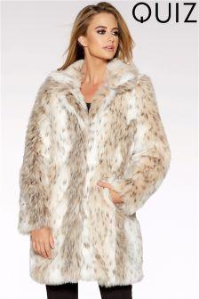 Quiz Faux Fur Coat