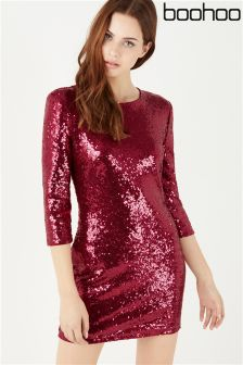 Boohoo Sequin Bodycon Dress