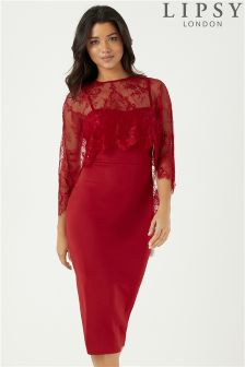 Lipsy Cape Midi Bodycon Dress