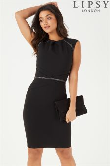 Lipsy Chain Insert Detail Bodycon Dress
