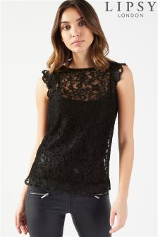 Lipsy All Over Lace Insert Shell Top