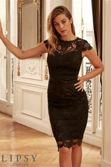 Lipsy Centre Front Lace Midi Dress