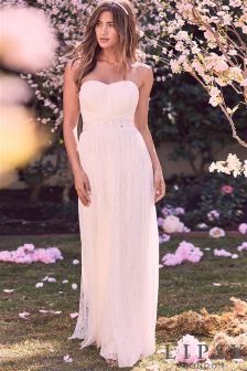 Lipsy Bridal Felicity Lace Bandeau Maxi Dress