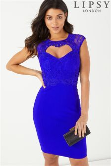 Lipsy Waxed Lace Artwork Bodycon Dress