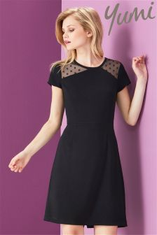 Yumi Stretch Cut Out Mesh Dress