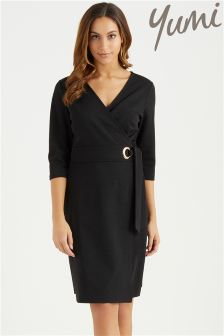 Yumi Wrap Dress With Eyelet Detail