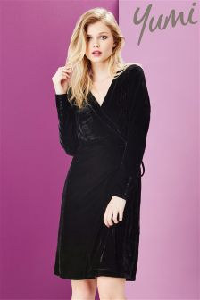 Yumi Velvet Wrap Dress