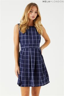 Mela London Check Tie Back Dress