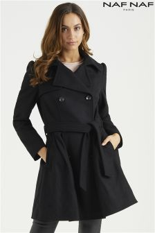 Naf Naf Wool Princess Coat