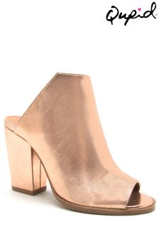 Qupid Metallic Mule