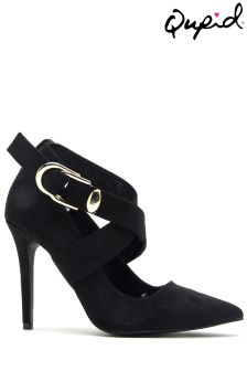 Qupid Cross Strap Court Shoe