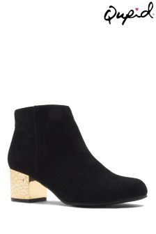 Qupid Heel Ankle Boots