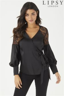 Lipsy Satin Wrap Top