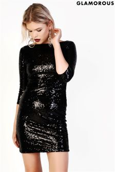Glamorous Curve Sequin Bodycon Dress
