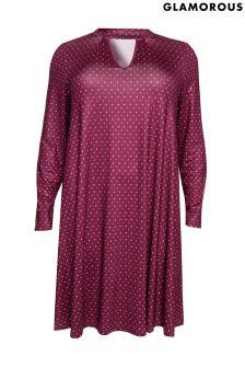 Glamorous Curve Printed Smock Dress