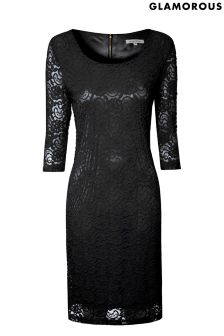 Glamorous Curve Lace Bodycon Dress