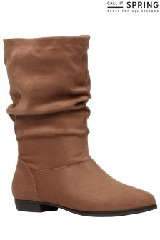 Call It Spring Ruched Boots