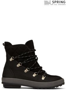 Call It Spring Ladies Quilted Lace Up Winter Boot