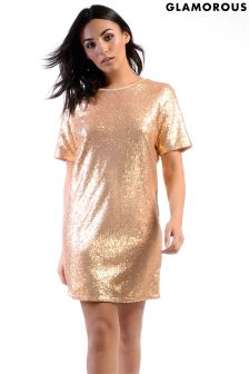 Glamorous Sequin T-Shirt Dress