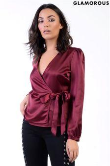 Glamorous Wrap Front Blouse