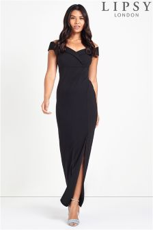 Lipsy Bardot Split Maxi Dress