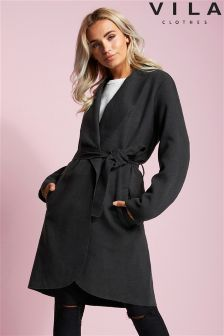 Vila Wrap Front Coat