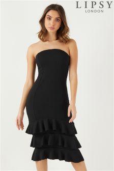 Lipsy Frill Bandeau Dress
