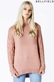 Bellfield Cable And Tuck Stitch Jumper