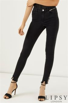 Lipsy High Rise Ring Detail Skinny Jeans