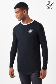 Siksilk Long Sleeve Curved Hem Tee