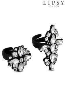 Lipsy Crystal Ring Set
