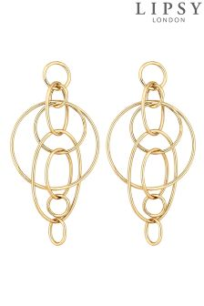 Lipsy Interlocking Circle Drop Earring