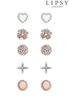 Lipsy Pave Crystal Stud Earring Set
