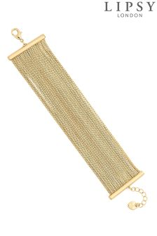 Lipsy Diamanté Crystal Multi Row T Bar Bracelet