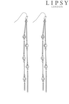 Lipsy Crystal Chain Drop Earring