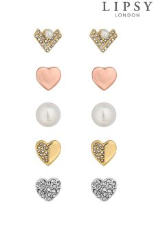 Lipsy Crystal And Pearl Earring Set