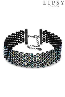 Lipsy Rainbow Crystal Choker Necklace