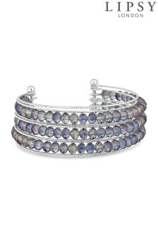 Lipsy Faceted Beaded Cuff Bracelet