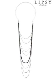 Lipsy Draped Multichain Torque Necklace