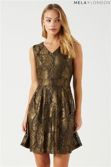 Mela London Foil Leaf Dress