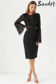 Bardot Lace Bodycon Dress