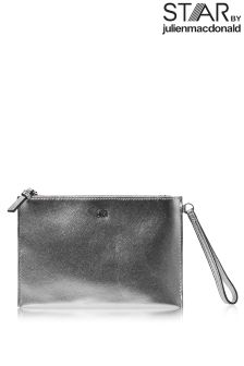 Star By Julien Macdonald Metallic Silver Clutch