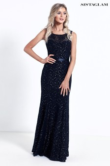 Sistagalm Lace And Glitter Maxi Dress