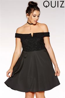 Quiz Curve Lace Skater Dress