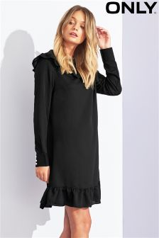 Only Long Sleeve Ruffle Dress