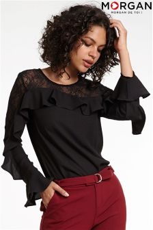 Morgan Ruffle Sleeve Blouse